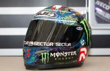 A subasta el casco que Lorenzó usó en el GP de Cataluña