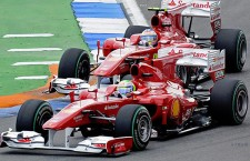 Ferrari es la escudería que más posiciones en carrera ha ganado adelantando