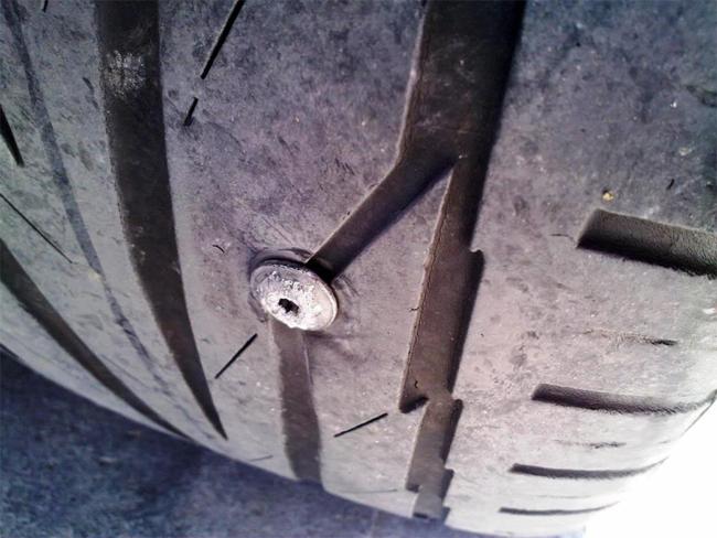 Pinchazo ruedas
