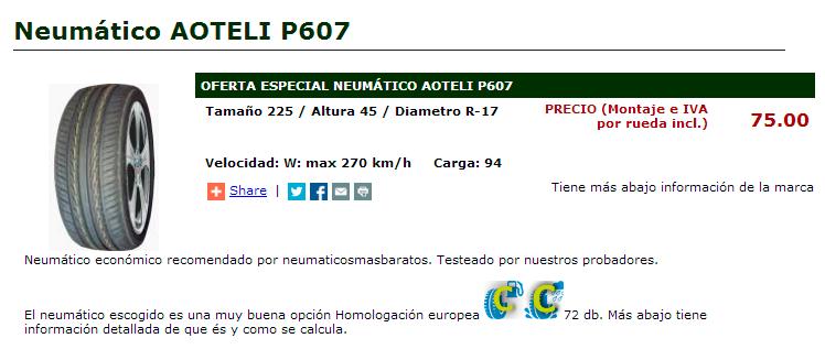 Conseguir unos neumáticos nuevos de calidad por sólo 75 €