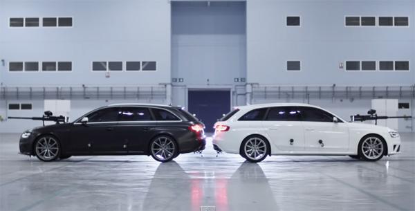 Combate de paintball entre dos Audi RS4 Avant