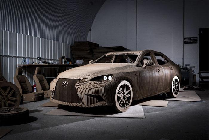 Lexus hace un coche de origami ¡a tamaño real!