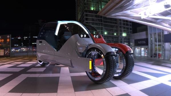Lane Splitter: Un coche que se divide en dos motos